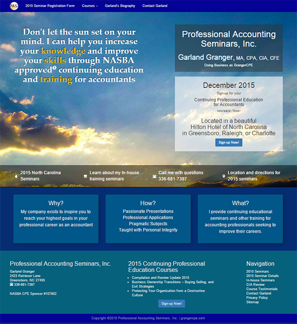 Professional Accounting Seminars by Granger Continuing Professional Education, Inc.